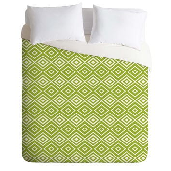 Lisa Argyropoulos Diamonds Are Forever Fern Duvet Cover
