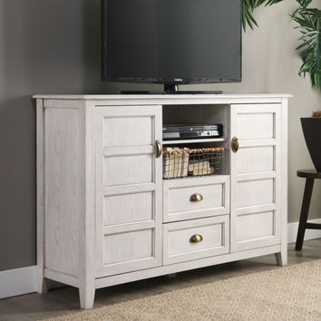 "52"" Rustic Chic TV Console - White Wash"