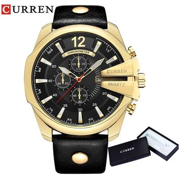 CURREN Men Watches 2018 Top Luxury Popular Brand Watch Man Quartz Gold Watches Men Clock Men's Watch Relogio Masculino  8176
