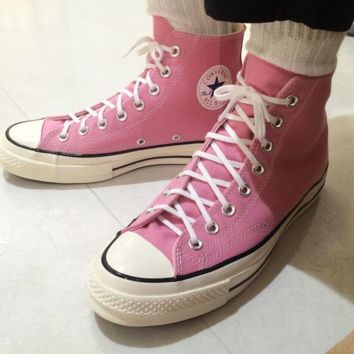 """""""Converse"""" Women Men Fashion Casual High Tops Canvas Flats Sneakers Sport Shoes Pink G"""