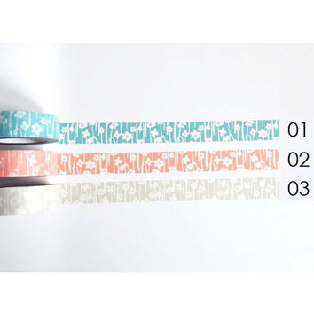Classiky Small Flower washi masking tape