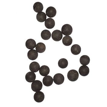 100PCS Bag Slingshot Beads Bearing Mud Eggs Airsoft Slingshot Ammunition Ammo Solid Drawing-board Clay Mud Beads for Hunting