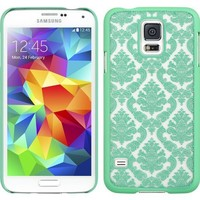 Thousand Eight Design Slim and Stylish Profile Crystal Rubber Case for Samsung Galaxy S5 ,Green