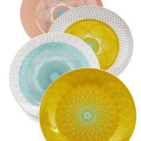 Swirl Talk Plate Set | Mod Retro Vintage Kitchen | ModCloth.com
