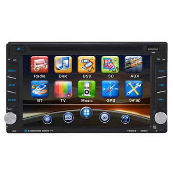 2 Din Car DVD Player 6.2inch Touch Display Universal Built-in Bluetooth FM Transmitter MP3/4/5 800*480 Resolution