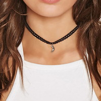 Crescent Moon Crochet Choker