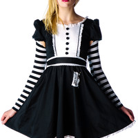Evil in Wonderland Alice Dress Black