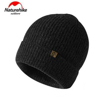 NatureHike Winter Warm Sport Caps Men Women Outdoor Wool Beanies Knitted Hat For Skiing Camping Hiking Trekking