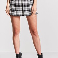Tartan Plaid Flared Skirt