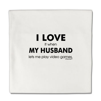 "I Love My Husband Videogames Micro Fleece 14""x14"" Pillow Sham"