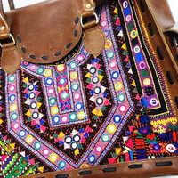Leather Bags messenger sling Handmade genuine briefcase  Doctor Tote bag Bohemaian Banjara Gypsy bags