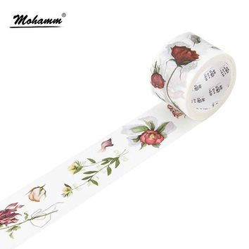 Cute Kawaii Flowers Japanese Washi Tape Adhesive Tape Diy Decoration Planner Scrapbook Sticker Label Masking Tape Stationery