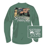 Liberty Guard Long Sleeve Tee in Sea Grass by Southern Fried Cotton