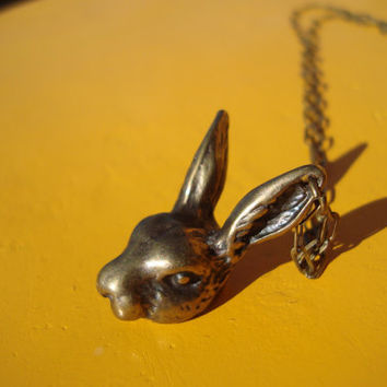 Alice in Wonderlands white (bronzed) rabbit