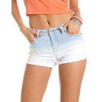 Refuge High Waisted Dip-Dye Short: Charlotte Russe