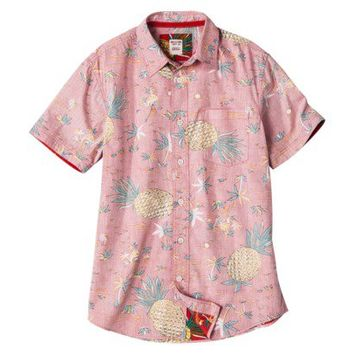 1c7141fd41d Mossimo Supply Co. Men's Short Sleeve Tropical Button Down - Red Pineapple  Print