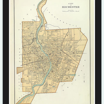 Old Map of Rochester,  United States 1895