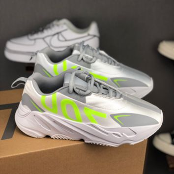 HCXX 19July 133 Adidas Yeezy Boost 700 VX Retro Casual Sneakers sliver Green