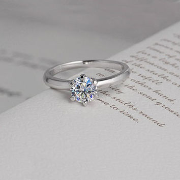 Matching woman ring, H&A 0.65CT woman promise ring, Engagement ring, his and hers promise ring, wedding rings, Personalized ring