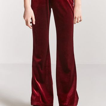 Girls Velvet Flare Pants (Kids)