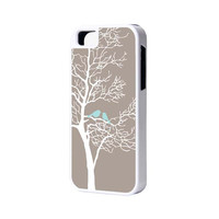 Tree And Birds iPhone 6 Plus 6 5S 5 5C 4 Rubber Case