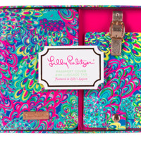 Lilly Pulitzer Luggage Tag and Passport Holder- Lilly's Lagoon