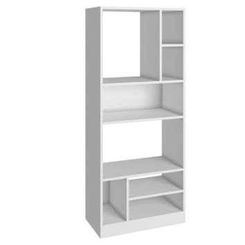Manhattan Comfort Durable Valenca Bookcase 3.0 with 8- Shelves