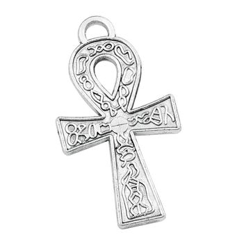 20 Pieces Ankh Life Powers Egyptian Charms Findings Jewelry Pendants Necklaces Making 37mm X 20mm
