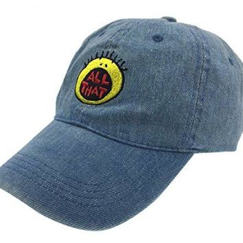 All That Hat Dad Cap 90s Baseball Adjustable Snapback Denim