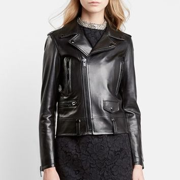 Women's Saint Laurent Classic Leather Moto Jacket