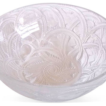 Lalique Crystal Sparrows Bowl