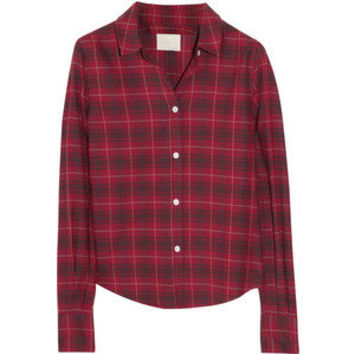 Boy. by Band of Outsiders Plaid cotton-flannel shirt