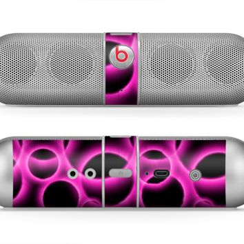 The Vibrant Pink Glowing Cells Skin for the Beats by Dre Pill Bluetooth Speaker