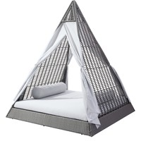 Albany Outdoor Daybed, Gray & Light Gray