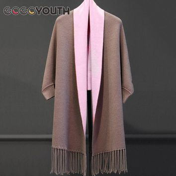Gogoyouth Tassel Long Cardigan Female 2018 Autumn Tricot Sweater Women Jacket Knitted Cape Poncho Women Winter Top Jumper Kimono