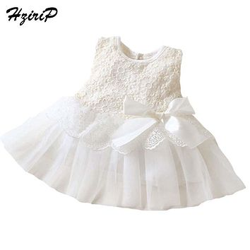 2017 Spring Summer Baby Dresses Girl Princess Dress Sleeveless Lace Newborn Baby Girls Party Wedding Dress Baby Clothes 13 Color