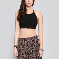 Woodstock Halter Crop Top - Black - Tops - Clothes | GYPSY WARRIOR