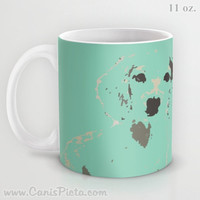 Mint Dachshund 11 / 15 oz Mug Dishwasher Microwave Safe Cup Tea Coffee Drink Puppy Abstract Pop Art Doxie Grey Brown Cute For Her Him Office