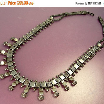 Vintage Rajasthan Sterling Silver Necklace