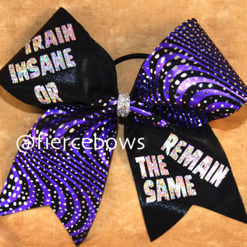 Train Insane Cheer Bow