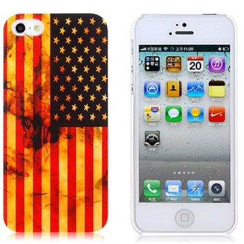 American Flag Plastic Case for iPhone 5S/S