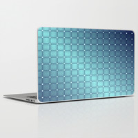 Blue Metallic Tiles Laptop & iPad Skin by Lena Photo Art
