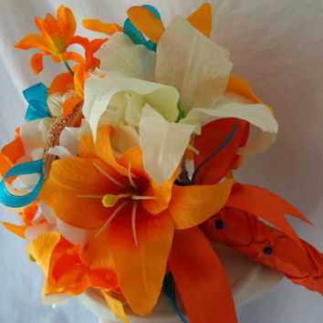 MADE TO ORDER Tiger Lily Wedding Bouquet-Starfish Bouquet