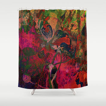 vintage floral Shower Curtain by clemm