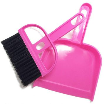 hot 1 Set  Mini Brush Dustpan Broom Duster Dust Brushes DashBoard Keyboard Computer Cleaning Cleaner Tools Home Supplies 2017