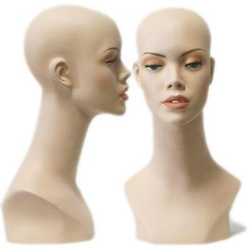 MN-412 Female Display Head Form with Bust