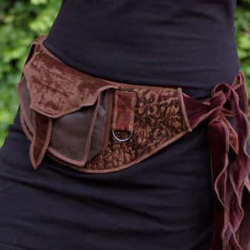 Golden Brown - Festival Pocket Belt - Utility belt - Renaissance Fair - Burlesque