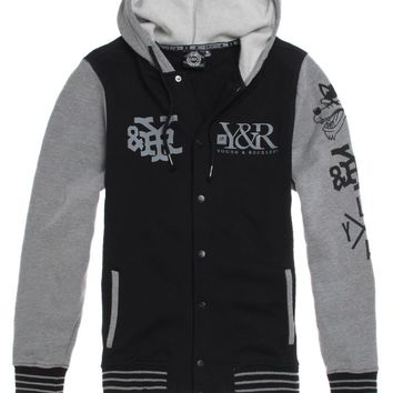 Young   Reckless Heavy Hitter Fleece Jacket - Mens Hoodie - Black c67902414