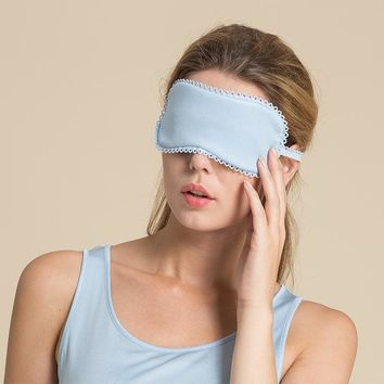 100% Silk Comfortable Eye Protection, No Eye Mask, Summer Lady Sleep Shade, Silk Double Knit Eye Mask