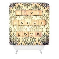 Shannon Clark Live Laugh Love Shower Curtain